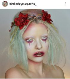 i loooove her Zombie Makeup, Fx Makeup, Photo Makeup, Hair Makeup, Dark Fairy Makeup, Fantasy Makeup, Fairy Halloween Costumes, Halloween Makeup, Halloween 2017