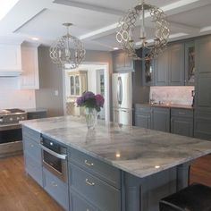 grey and white countertops houston texas | grey and white kitchen. Love, love, love this!!!!!