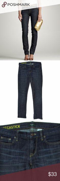 """JCREW Indigo Wash Matchstick Jeans Excellent condition! These matchstick jeans from JCREW feature a slim straight leg style. Wash is a dark indigo. Measures: waist: 30"""", rise: 7"""", hips: 36"""", inseam: 33"""" J. Crew Jeans Straight Leg"""