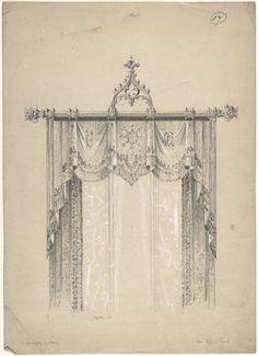 Charles Hindley e Hijos | Diseño para cortinas góticas y barra de la cortina | El Museo Metropolitano de Arte