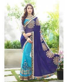 Kmozi's Georgette Navy Blue with Sky Blue colour Zari Embroidery work  with Lace borderDesigner sare..  http://www.kmozi.com/designer-embroidery-sarees/kmozi-s-georgette-navy-blue-with-sky-blue-colour-zari-embroidery-work-with-lace-borderdesigner-saree-740?sort=p.viewed&order=DESC&price=0-4789