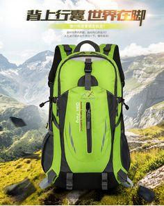 Открытый восхождение мешок мужчин и женщин дорожная сумка водонепроницаемый Пешие прогулки легкий мешок большой емкости сумка спортивная сумка 40 литров верховых пакет - Taobao