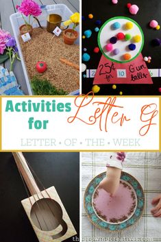 Teaching the alphabet to your preschooler can be so much fun! Make learning come easy with these activities for the letter G. Letter G Activities, Preschool Letters, Hands On Activities, Science Activities, Toddler Activities, Preschool Activities, Toddler Games, Indoor Activities, Summer Activities