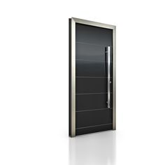 Wood/Aluminium entrance door HT 400, Model VE_D0B. Photo credits: Internorm.