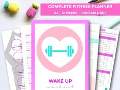 Fitness Planner, 12 Week Fitness Planner, Workout Planner, Macro Tracker 2019, Goal Setting, Weekly Planner, Habit Tracker, A4 Printable by SoMeYou on Etsy Daily Planner Printable, Weekly Meal Planner, Blog Planner, Planner Pages, Happy Planner, Road Trip Planner, College Planner, Workout Planner, Fitness Planner