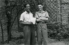 Tamiment Library, New York University and Edwin Rolfe Photographic Collection Tamiment Library NYU and Edwin Rolfe Photographic Collection  Langston Hughes, left, and volunteer Edwin Rolfe in Spain, circa 1938.