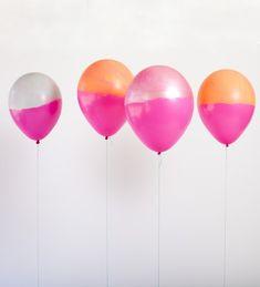 Dip-dyed balloons.