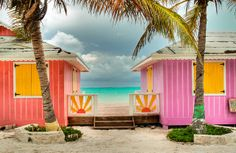 """Sailing Paradise is a little series of colorful """"huts"""" right on the beach in the Blue Hills Settlement on Providenciales Island."""