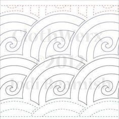 Baptist Swirl - Paper- - Quilts Complete - Continuous Line Quilting Patterns Quilting Stencils, Quilting Templates, Longarm Quilting, Free Motion Quilting, Quilting Projects, Quilting Ideas, Quilting Stitch Patterns, Machine Quilting Patterns, Quilt Stitching