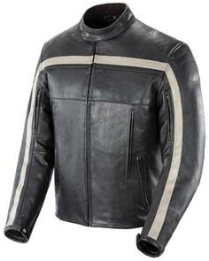 Special Offers - Joe Rocket Mens Old School Leather Motorcycle Jacket blk/ivory - In stock & Free Shipping. You can save more money! Check It (May 11 2016 at 02:11PM) >> http://bestsportbikejacket.com/joe-rocket-mens-old-school-leather-motorcycle-jacket-blkivory/