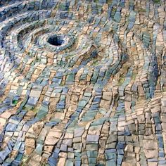 Dino-Maccini mosaic artist Would make an awesome fountain bottom Pebble Mosaic, Stone Mosaic, Mosaic Glass, Mosaic Tiles, Stained Glass, Mosaic Wall, Mosaic Mirrors, Tiling, Land Art