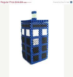 SALE SPRING BREAK Doctor Who Tardis Perler Secret Box by Lassarina