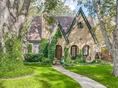 Classic Tudor With A Cool Factor. Settled In East Dallas' Desirable Hollywood Heights, This Home With Two Bedrooms, Two Bathrooms, And Two Storybook Homes, Storybook Cottage, Tudor Style Homes, Cottage Style Homes, Cottage House Plans, Tudor Cottage, Tudor House, Classic Home Decor, Classic House