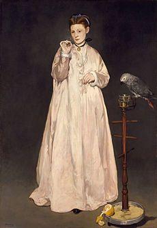 Donna con pappagallo