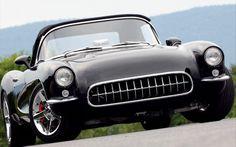 Custom 1957 Chevrolet Corvette Carbon Fiber Black Front View