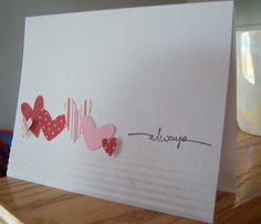 Easy valentine card. Cute!