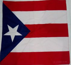BANDANA PRINTED  PUERTO RICO FLAG  HAIR STYLING HANDKERCHIEF - 100% COTTON  #Bandana