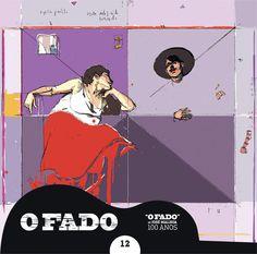 """2012 O Fado de José Malhoa 100 Anos 12 [Tugaland/A Bela e o Monstro] ilustração: João Moreno """"Fado de José Malhoa"""" #albumcover #illustration #fado #music"""