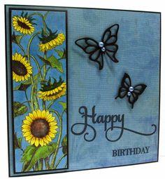 Jenfa Cards: Sunflowers