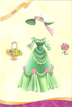 Miss Missy Paper Dolls: All Dressed up Disney princess Part 2