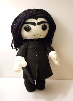 Felt Severus Snape wizard inspired custom plush stuffed rag doll toy Harry Potter