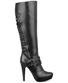 G by Guess Danjer Platform Dress Boots - Shoes - Macy's Heeled Boots, Bootie Boots, Shoe Boots, Cute Shoes, Me Too Shoes, Rock Boots, Wide Calf Boots, Guess Handbags, Boots Online