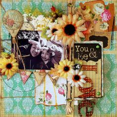 Scrapperlicious: You and Me Layout by Irene Tan using Clear Scraps stencils and acrylic expression and banner