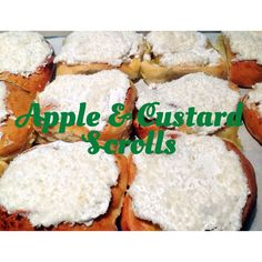 Apple and Custard Scrolls (Thermomix Method Included)