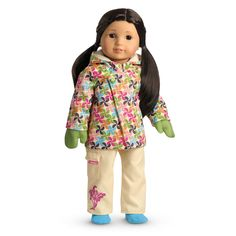 American Girl Store Exclusive 2010 PWP Starry Dream Doll PJ Pajama Silk Set Only