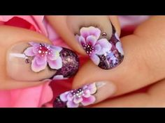 Nail Art One Stroke & French Manicure - YouTube