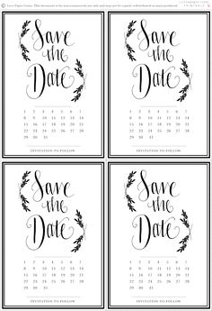 Three Free Microsoft Word Save The Date Templates Perfect For - Microsoft save the date templates free