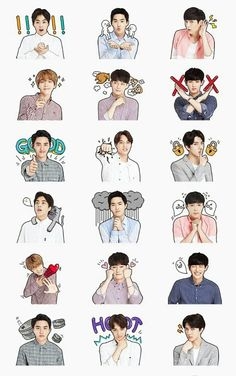 Image uploaded by Bli ^. Find images and videos about kpop, exo and chanyeol on We Heart It - the app to get lost in what you love. Kpop Exo, Exo Chanyeol, Exo Kai, Kyungsoo, Exo Stickers, Cute Stickers, Printable Stickers, Exo Anime, Exo Lockscreen