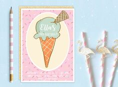 A personal favourite from my Etsy shop https://www.etsy.com/uk/listing/484761172/printable-personalised-ice-cream-cone