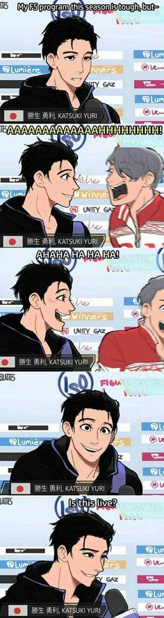 I don't even know why I'm laughing Yuri! On Ice Yuri, Viktor ユーリ!!! On Ice, Ice Ice Baby, Viktor And Yuuri, Yuri On Ice Comic, Katsuki Yuri, Naruto E Boruto, Me Anime, Anime Stuff, Yuri Plisetsky