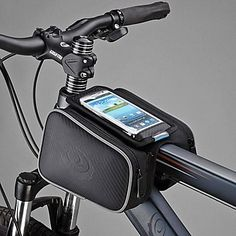 Roswheel 12813 Cycling Front Frame Bag Tube Pannier with inch Mobile Phone Pouch Water Resistant Samsung Galaxy S4, New Bicycle, Bicycle Bag, Bike Frame Bag, Cheap Bikes, Mountain Bike Shoes, Bicycle Maintenance, Cool Bike Accessories, Cycling Bikes