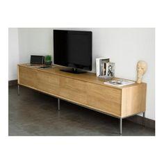Meuble TV 2 tiroirs 2 portes en chêne massif COPA