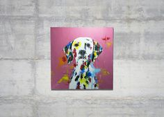 "Title""Dalmatian"" original spray paint art Painted on canvas size S15 (652mm x 652mm) Artist TOMOYA available    contact to info@spray-art.jp for purchase and information.   information info@spray-art.jp http://www.spray-art.jp/"