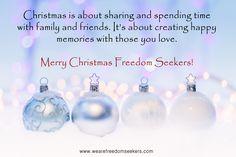 #merrychristmas #wearefreedomseekers #happiness #family #friends