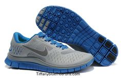 Mens Nike Free 4.0 V2 Cool Grey/Blue