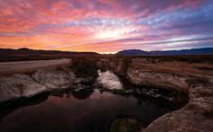 Sunrise at Big Hot Springs in Nevada.- The Best Leaf-Peeping Adventures for Fall Foliage (near Ely, NV- 5 hrs from SLC)