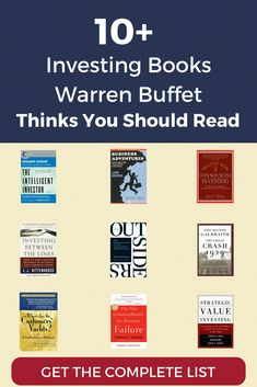 Warren Buffetts Favorite Books - Stock Market Tips - Ideas of Stock Market Tips - Here are Warren Buffetts 10 favorite investing books plus 20 more books he recommended in pursuit of worldly wisdom warren buffett Warren Buffett, Book Club Books, Good Books, Books To Read, Mini Books, Reading Lists, Book Lists, Entrepreneur Books, Life Changing Books