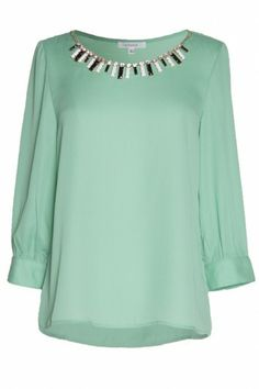 Don't you hate it when you find a fabulous top but you can't find a good necklace to wear with it? This top solves that problem but giving you a two for one deal! We are obsessed! $62   www.bevello.com