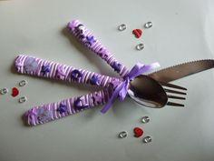 """Couvert fimo """"thème Violetta"""" : Cuisine et service de table par brico-nad"""