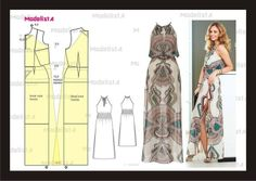 Vestido largo patrón
