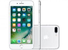 "iPhone 7 Plus Apple 256GB Prateado 4G 5,5"" Retina - Câm. 12MP + Selfie 7MP iOS 10 Proc. Chip A10"