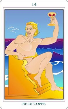 King of Cups - Phoenix Tarot by Paola Angelotti King Of Cups, Spirit World, Pentacle, Tarot Decks, Tarot Cards, Mythology, Phoenix, Knight, Disney Characters