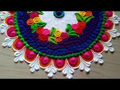 Top rangoli for Diwali Lakshmi Pooja design/दिवाली रंगोली २०१९ Rangoli Colours, Colorful Rangoli Designs, Rangoli Designs Diwali, Rangoli Designs Images, Kolam Rangoli, Easy Rangoli, Art Forms Of India, Peacock Rangoli, Special Rangoli