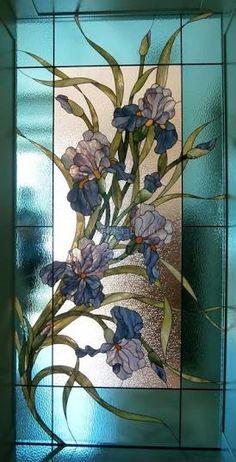 Image result for витраж цветы ирисы