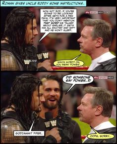 Shield memories: Remember when Seth went to stay with Uncle Roddy? I laughed as soon as I read it! This so funny! It made my evening! Wrestling Memes, Watch Wrestling, Wrestling Superstars, Roman Reigns Memes, Wwe Roman Reigns, Wwe Funny, Funny Memes, Wwe Gifs, Sports Memes