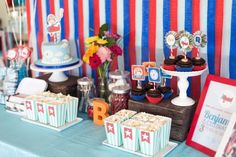 Boys Airplane Themed Party Dessert Table
